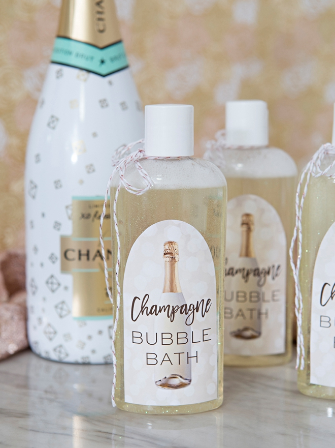 Learn how to make your own bubble bath with real Champagne in it!