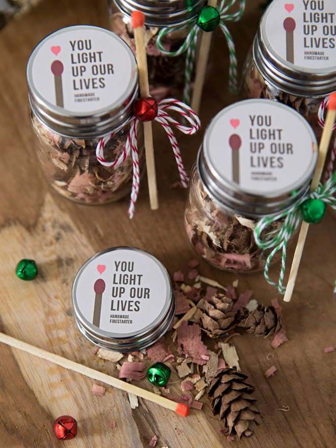 Make your own fire starter holiday gifts!