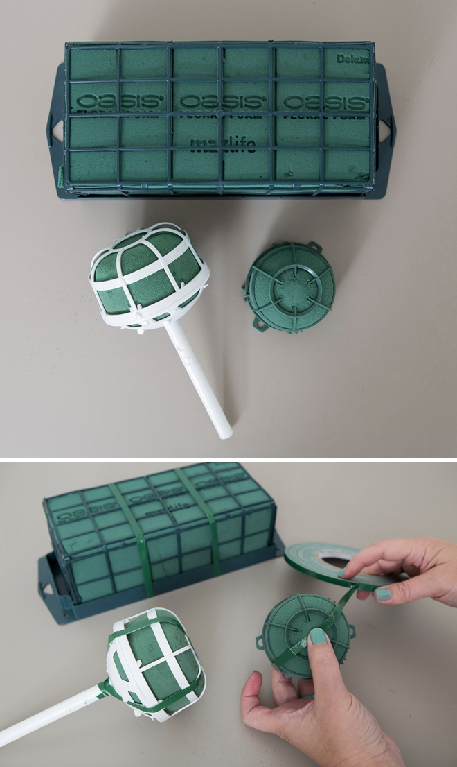 How to tape Oasis cages for flower arrangements!
