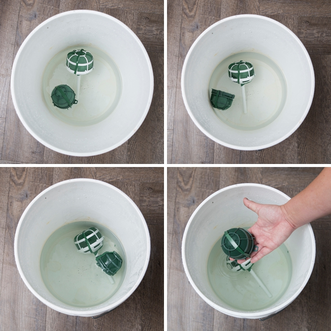 How to soak Oasis for flower arrangements!