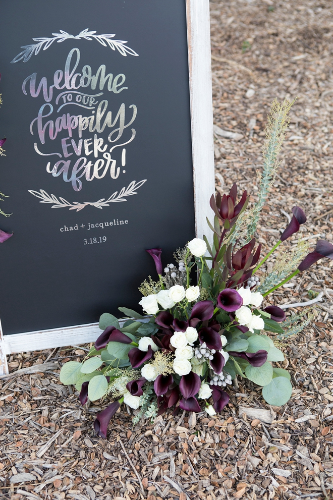 Learn how to make flower arrangements for wedding signs!