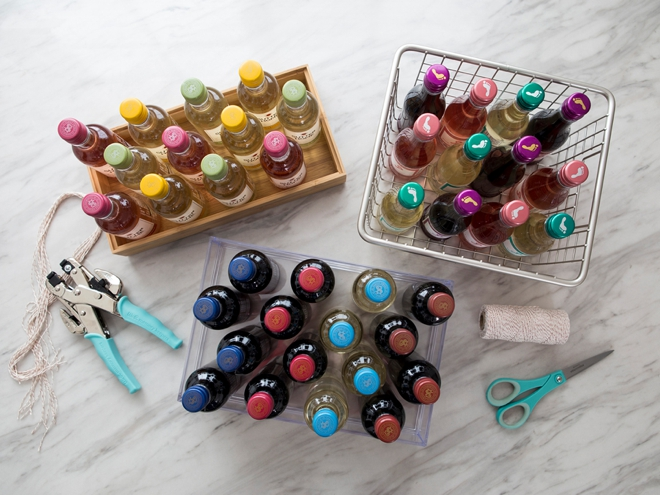 OMG, this is a DIY mini wine advent calendar for your wedding!