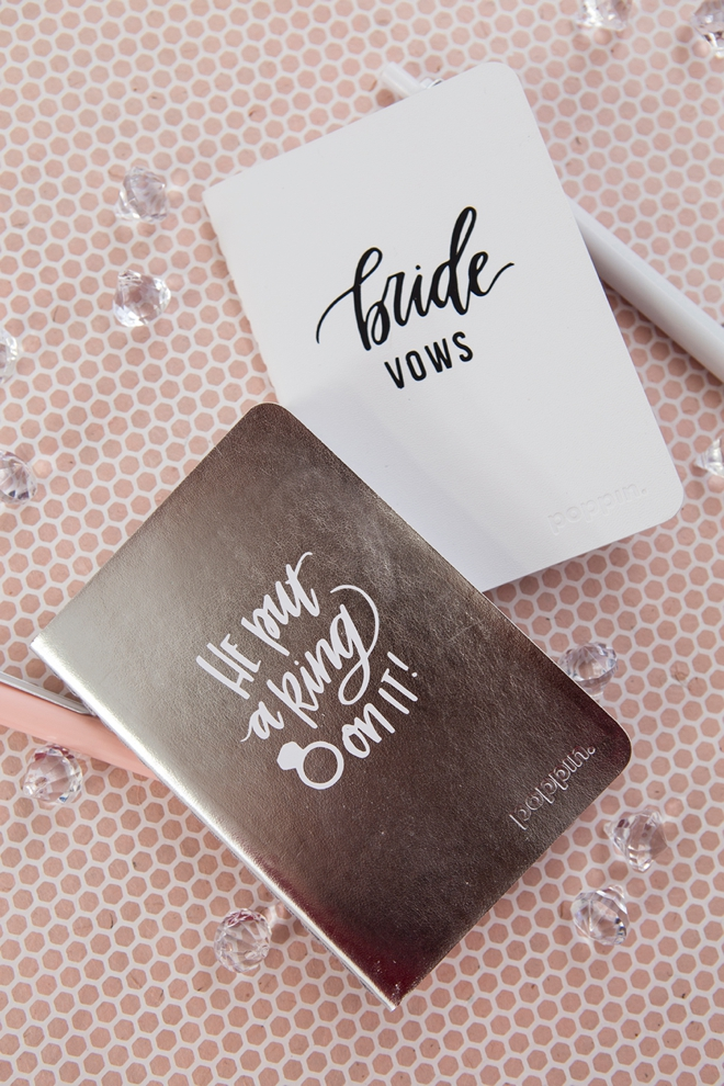 These personalized mini wedding notebooks are the cutest!