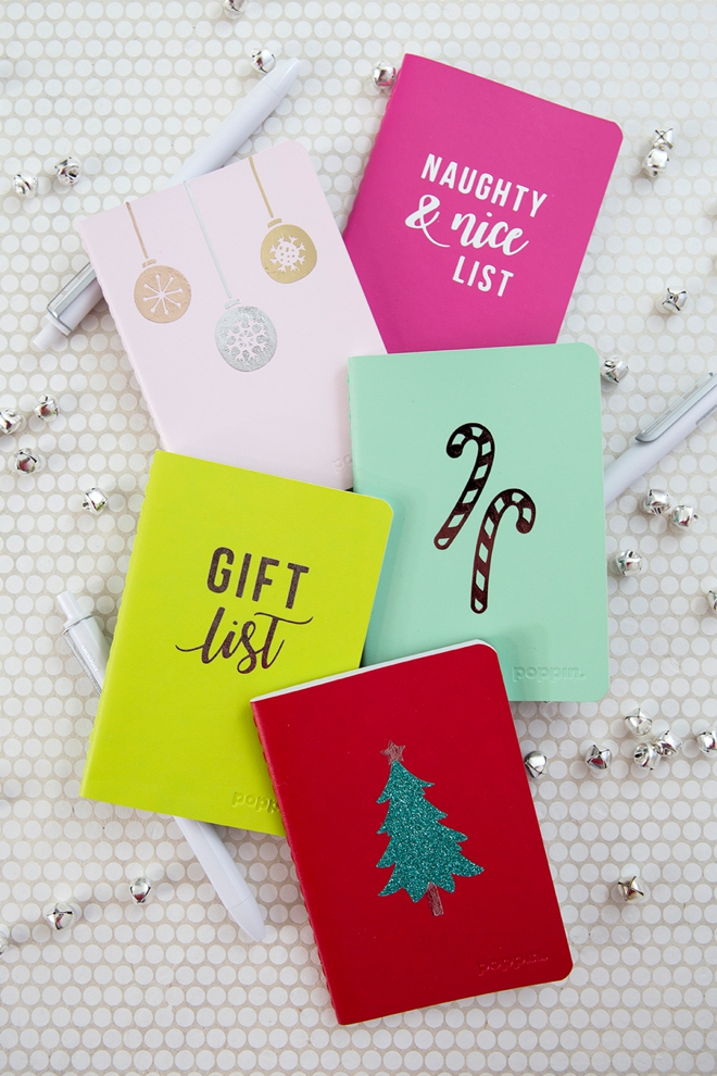 These personalized mini holiday notebooks are the cutest!