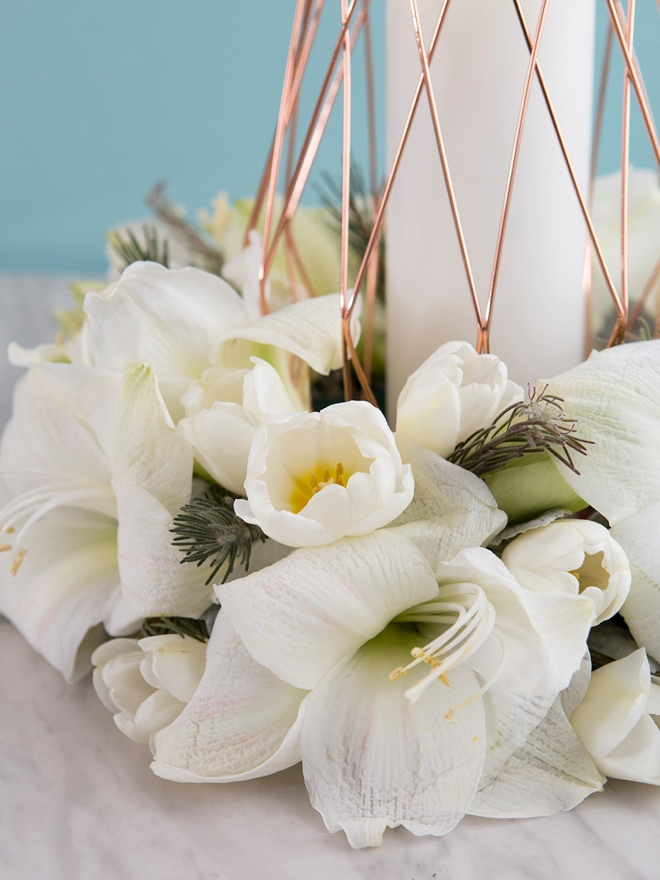 Diy Wedding Table Wreath Centerpieces