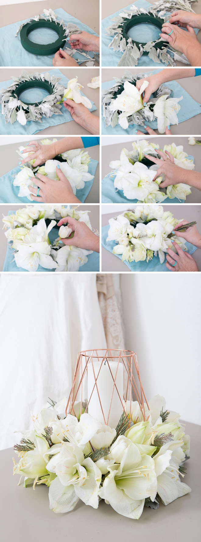 These DIY table wreath centerpieces are gorgeous!