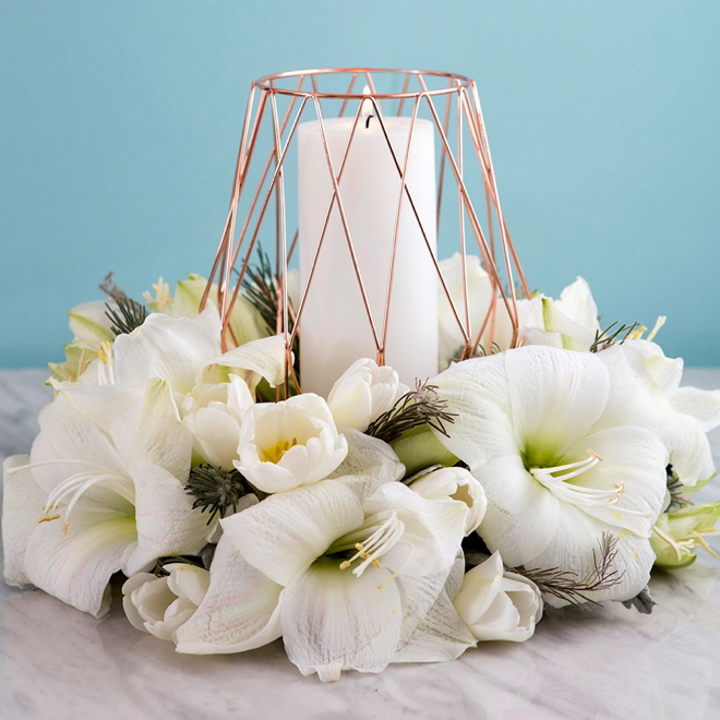 Water Wedding Centerpiece Ideas: These DIY Wedding Table Wreath Centerpieces Are Gorgeous
