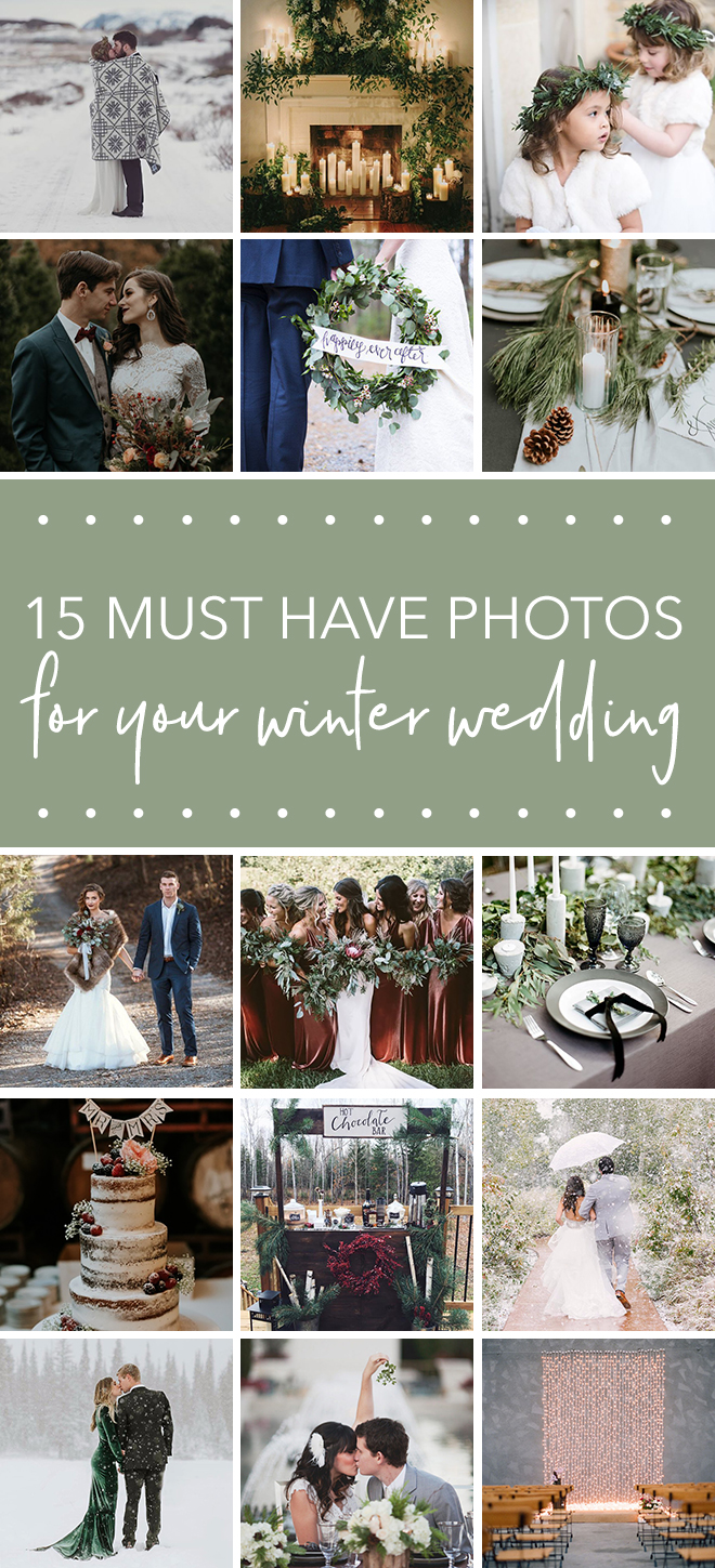 The Ultimate Shot List for Your Winter Wedding