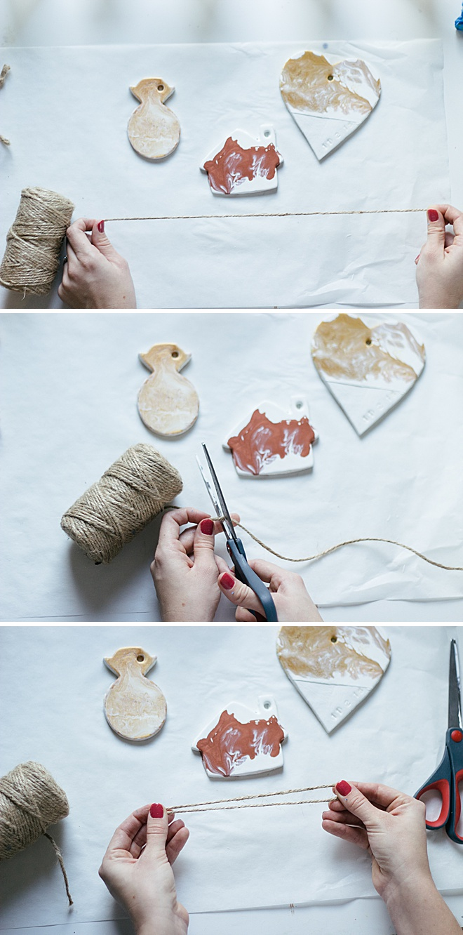 Learn how to make your own clay ornaments, so easy!