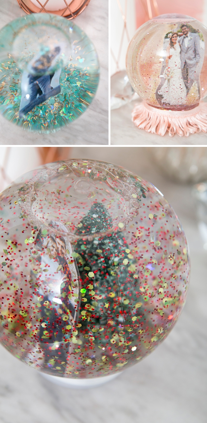 Learn how to make your own photo snow globes, so easy and cute!