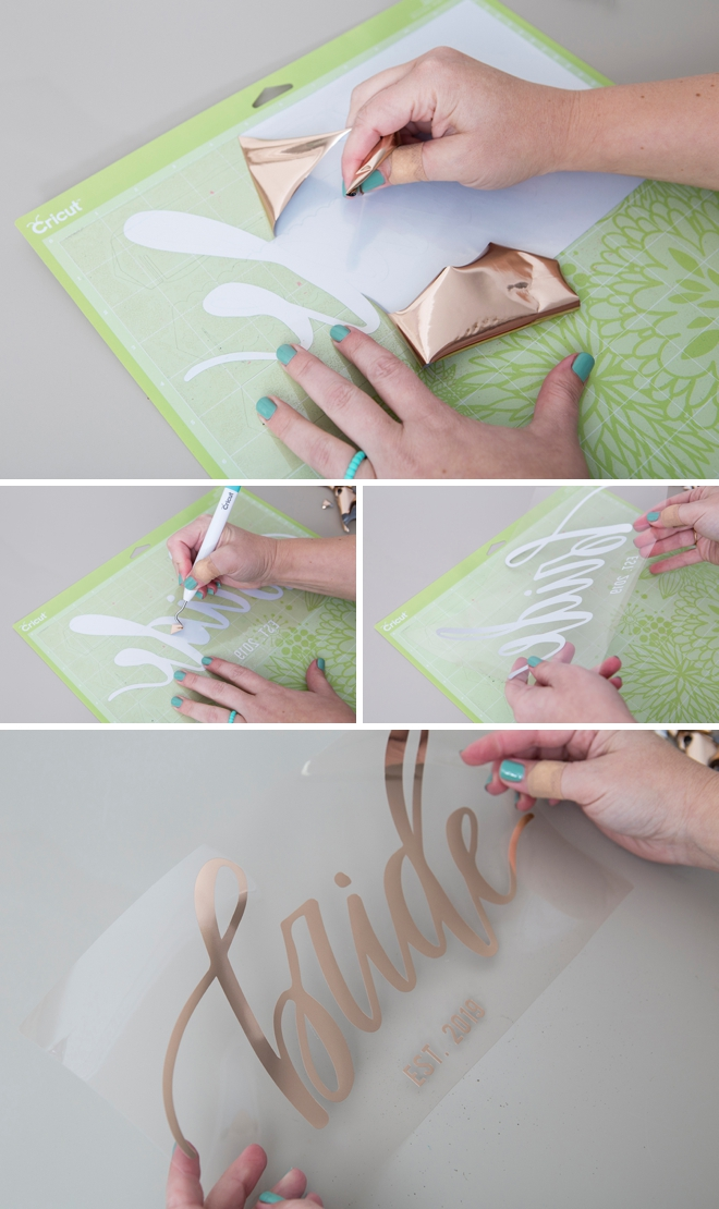Learn how to easily customize your own Bride or Wifey jean jacket!