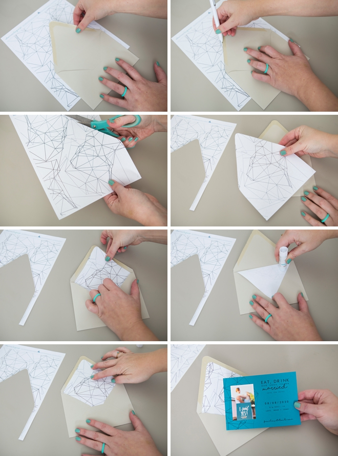 How to make your own matching envelope liners for our photo Save the Dates!