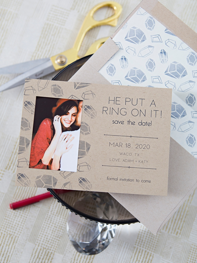 Use the Canon IVY mini photo printer to make these save the dates!