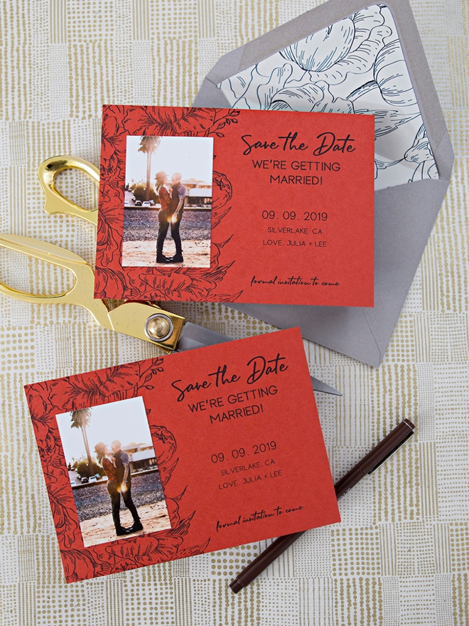 Adorable DIY photo save the dates you can make at home!