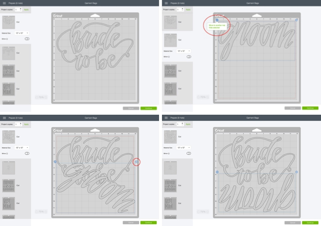 How to move one cut file from Cricut mat to mat