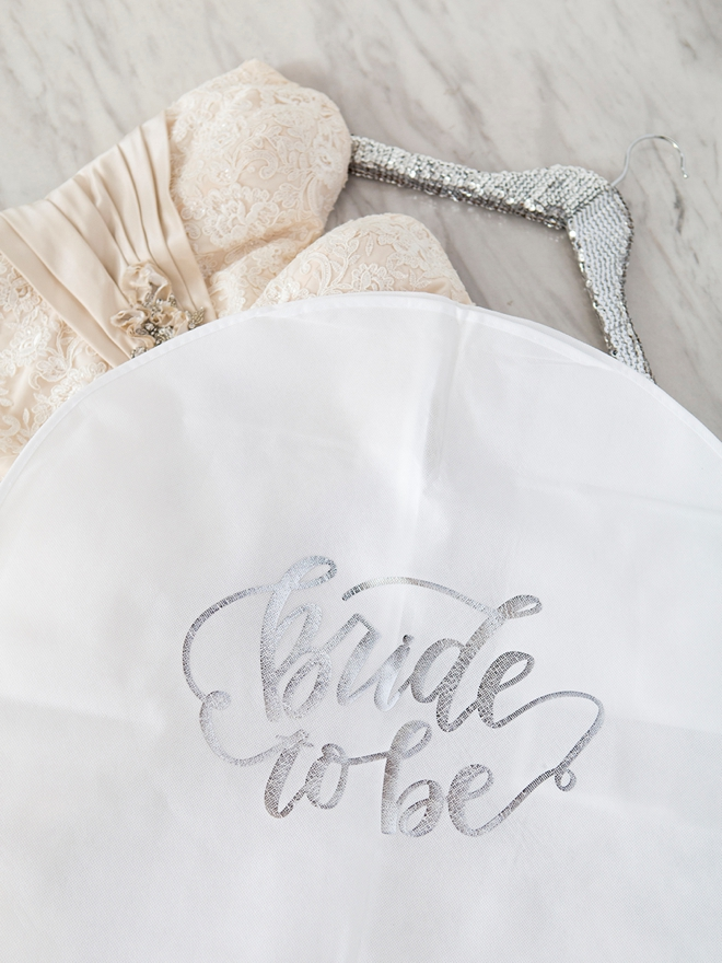 Learn how to personalize garment bags for your bridal party!!