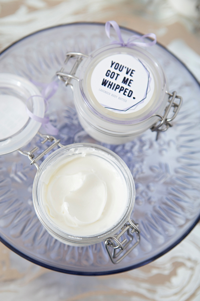 DIY Whipped Lavender Body Butter Bridal Shower Favors!