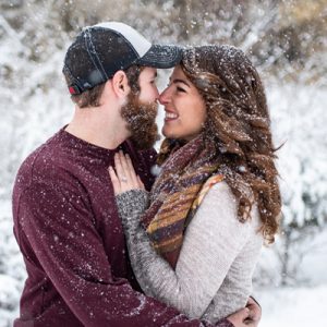 We can't get enough of this adorable couple and their blizzard engagement! SO cute!