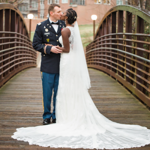 This gorgeous Military wedding is full of DIY details! Don't miss it!