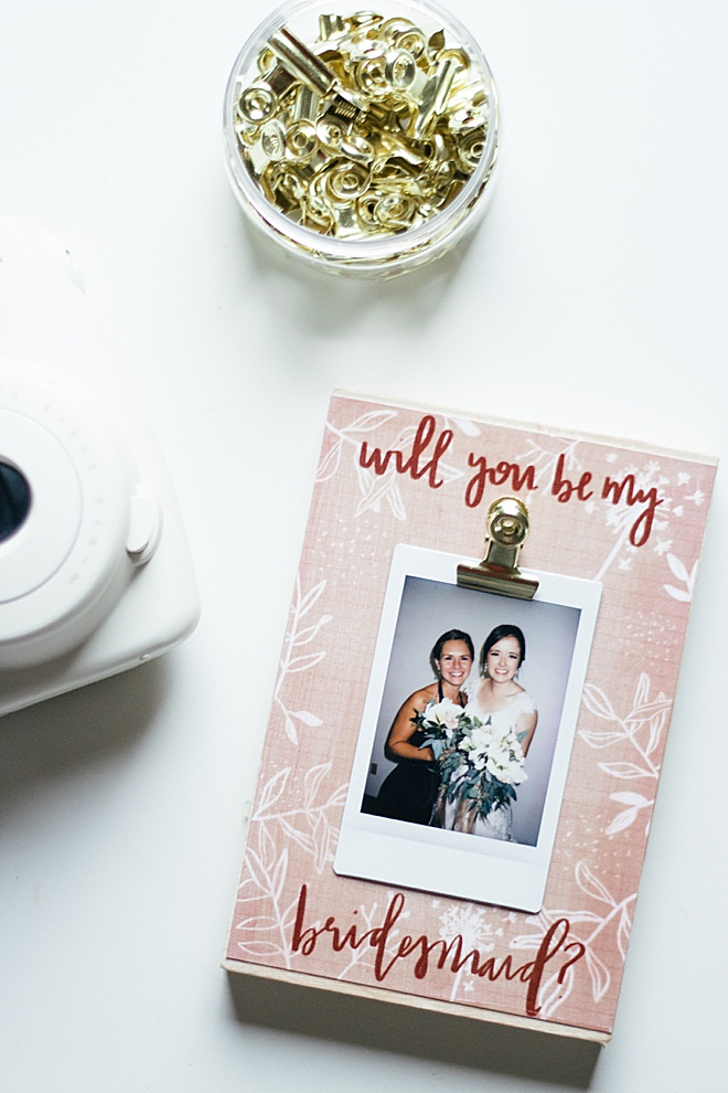 Asking your bridesmaids to stand by your side just got a whole lot cuter!