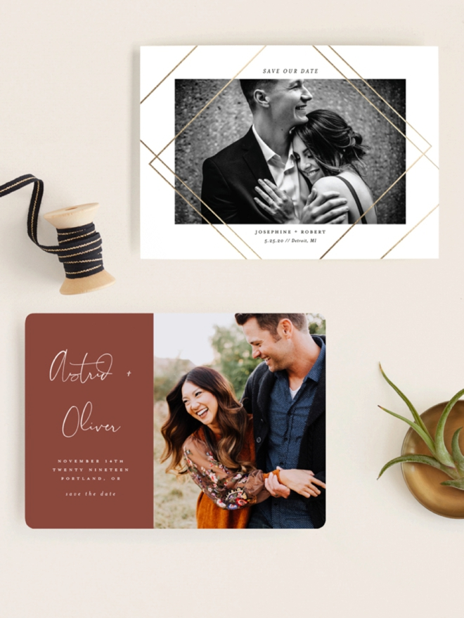 Brand new Save the Dates from Minted for your 2019/2020 wedding!