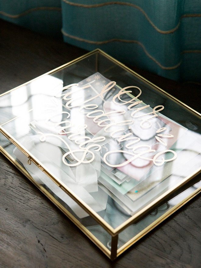 Personalize your own wedding card box and use as a keepsake after!