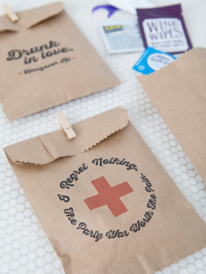 These are the absolute cutest printable hangover kit bags!