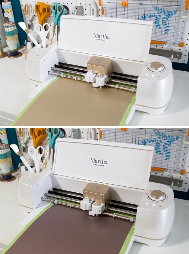 Use the Cricut to personalize these gorgeous felt file folders to hold all your special wedding things!