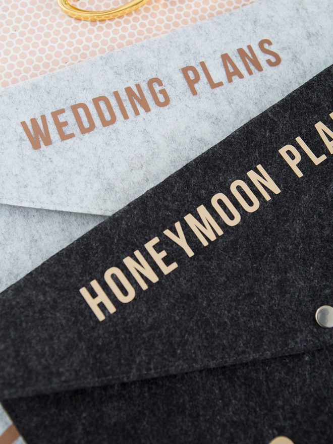 Learn how to make your own gorgeous wedding planning file folders!
