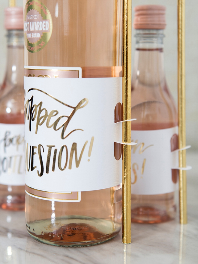 Learn how to make your own wine gift labels that hold these adorable straws!
