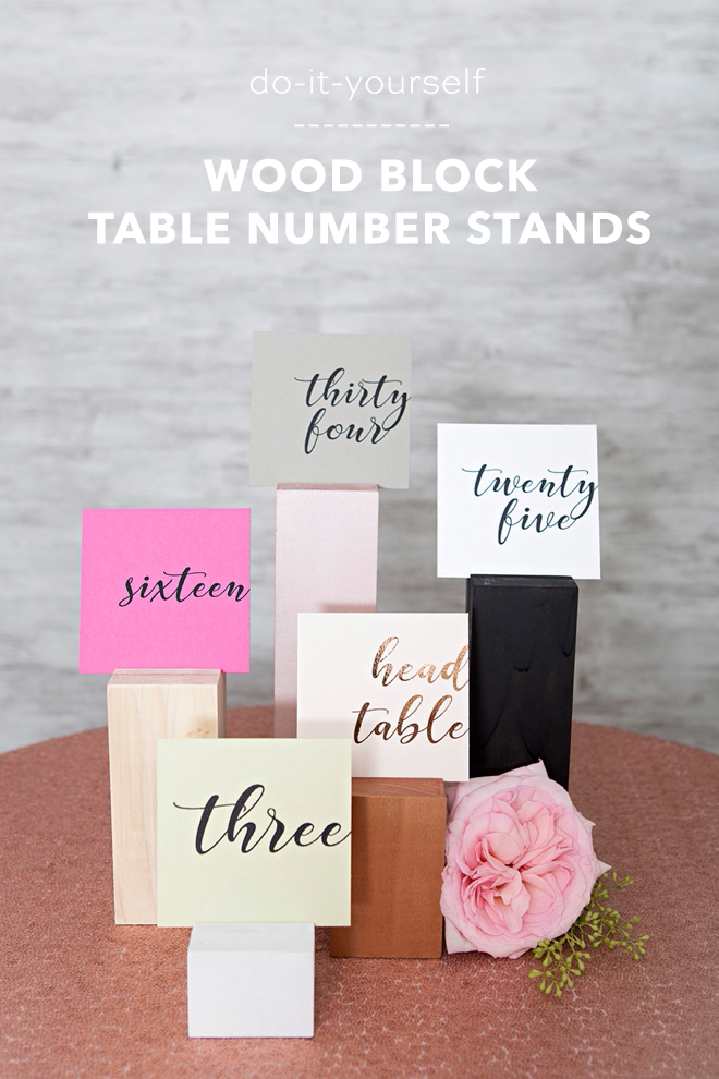 These DIY wood block table numbers are adorable and versatile!