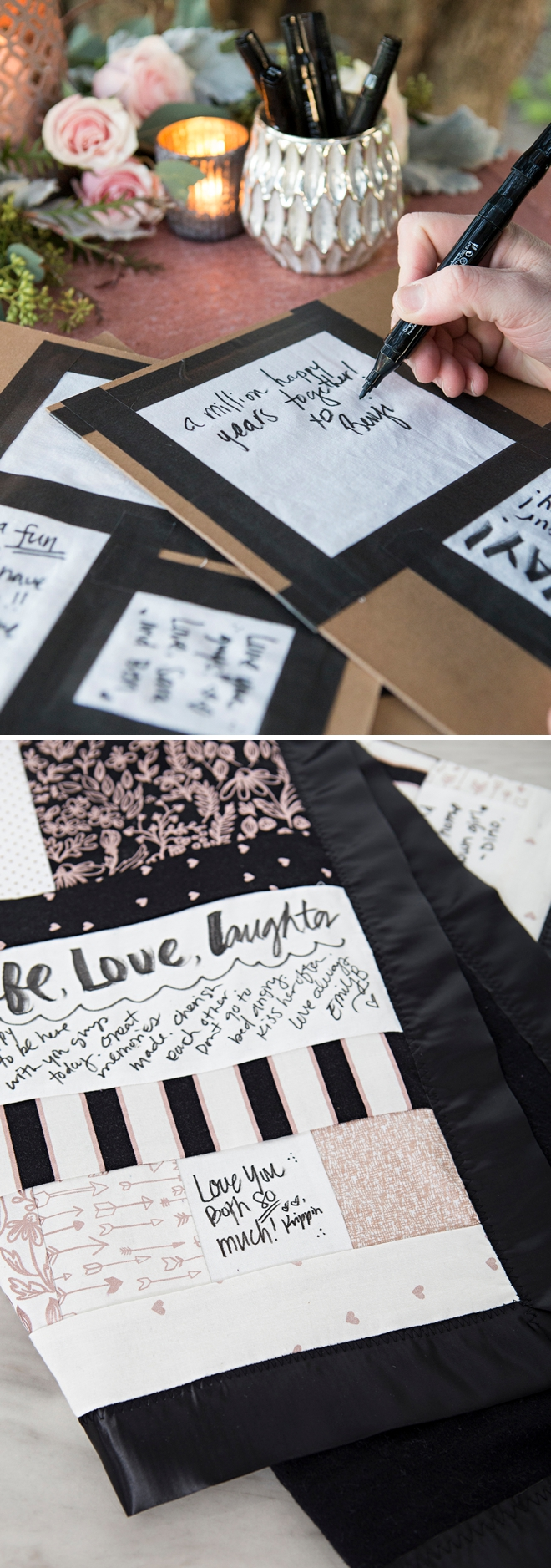How to make a guest book quilt, from start to finish!