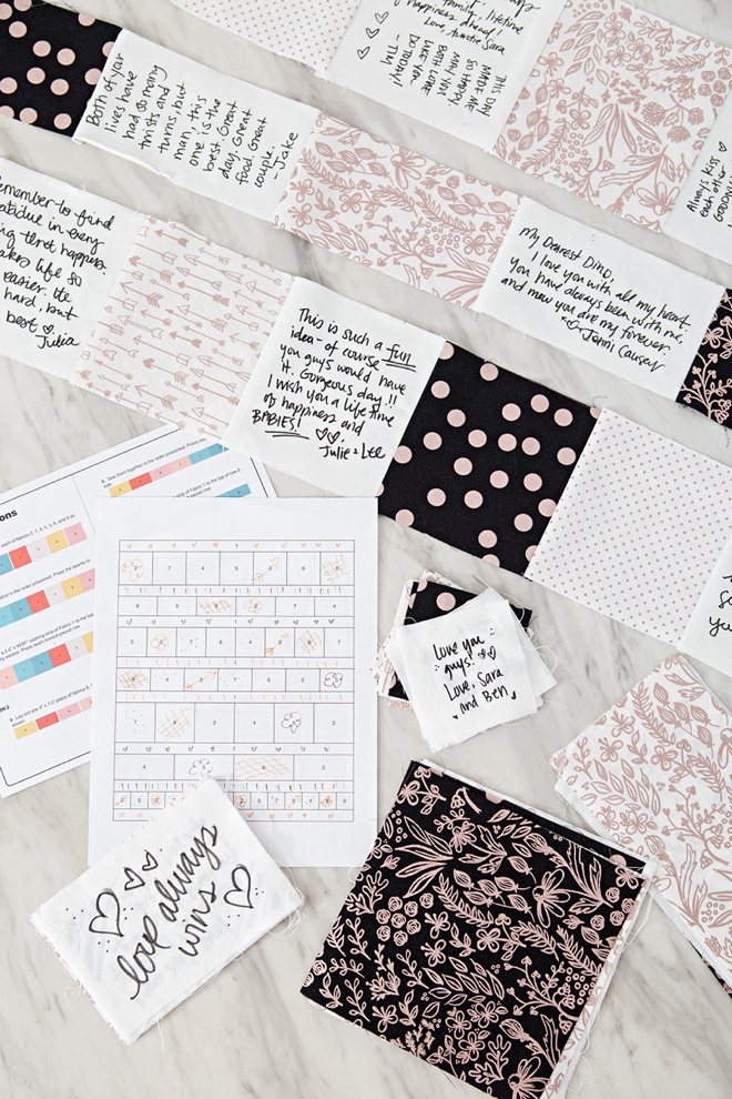 Learn how to make your own gorgeous Quilt guest book!