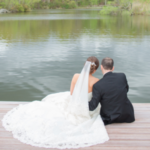 We're in LOVE with this gorgeous handmade lakeside wedding!