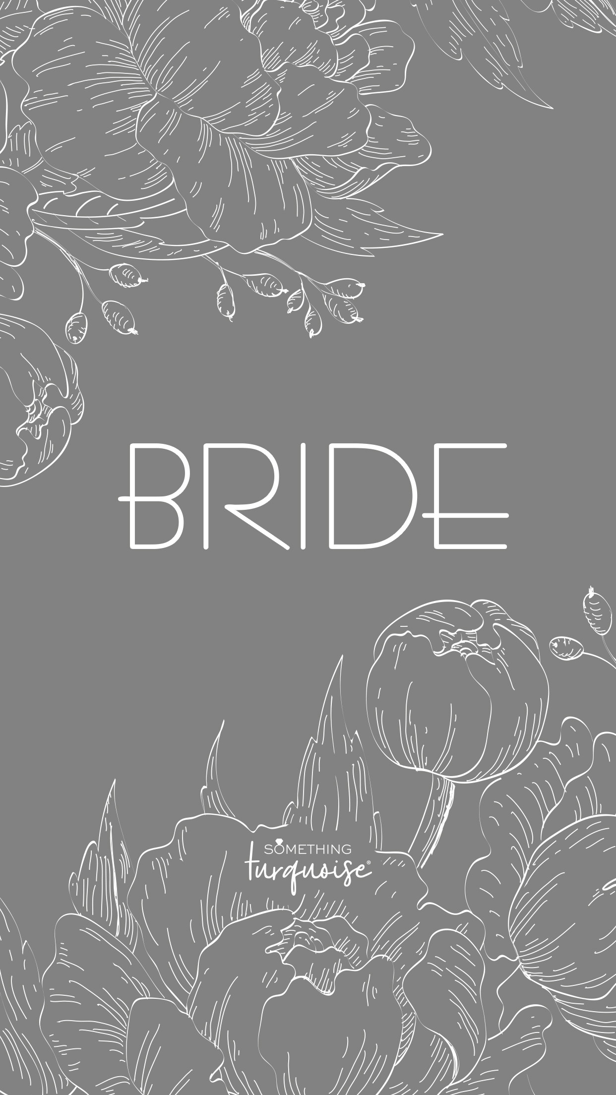 Free floral phone wallpaper for the Bride!