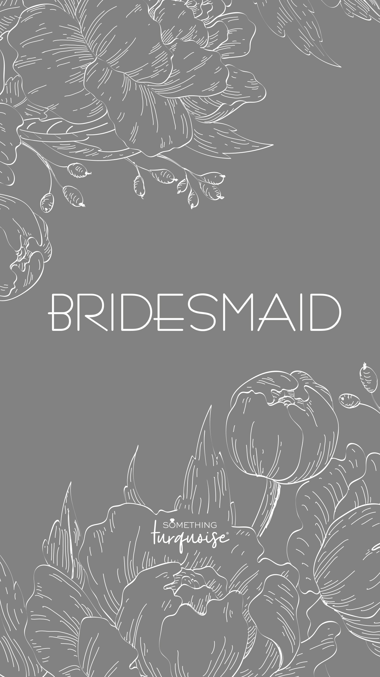 Free floral phone wallpaper for the Bridesmaids!