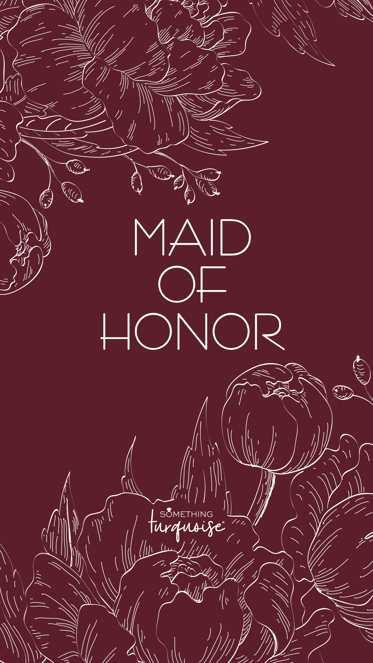 Free floral phone wallpaper for the Maid of Honor