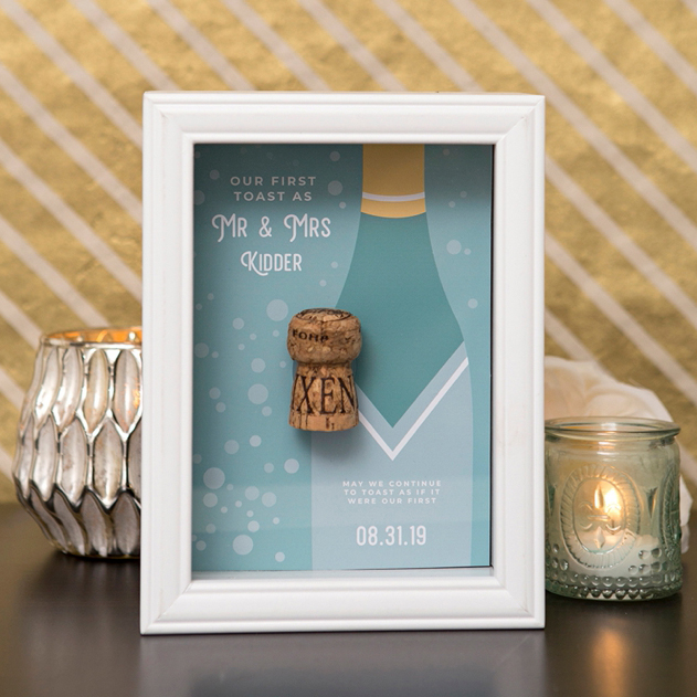 "Cork Wedding Memory: You HAVE To See These DIY ""Our First Toast"" Cork Keepsake"