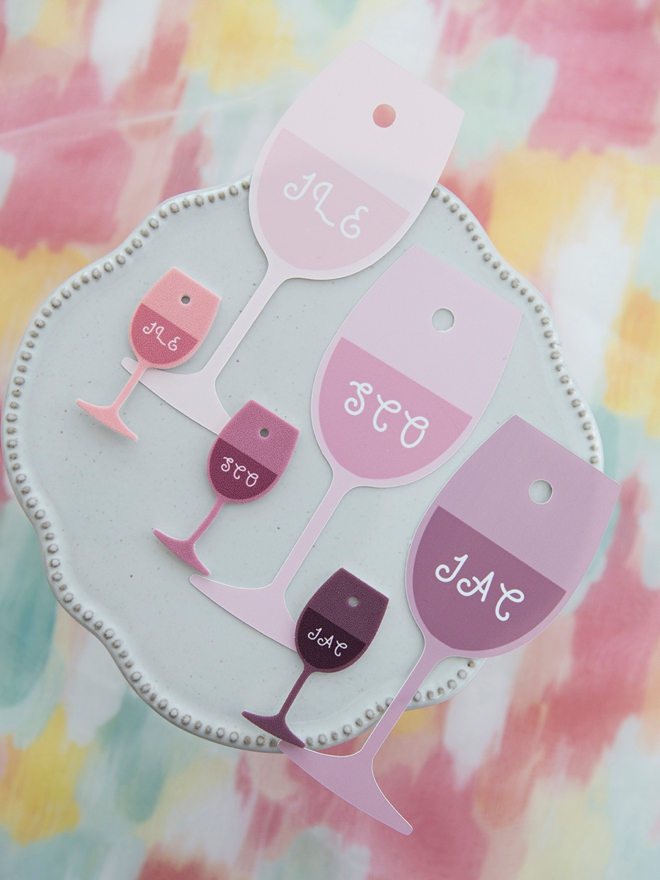 Learn how to make wine charms out of shrinky dink using your Cricut!