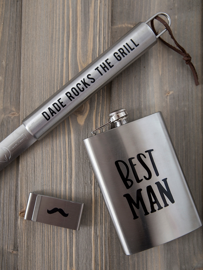 Learn how to personalize your own groomsmen gifts!