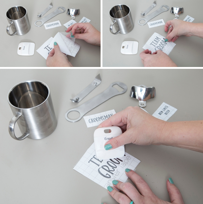 Learn how to personalize stainless steel gifts for your groomsmen!