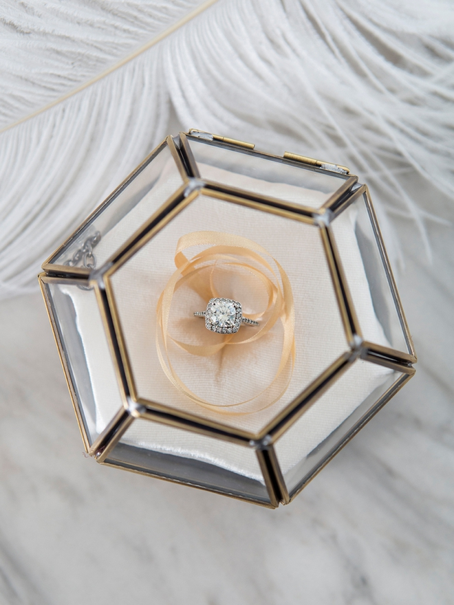 Quickly and easily make your own wedding ring pillow for this gorgeous box!
