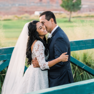 We're in LOVE with this gorgeous and handmade Lake Powell wedding!