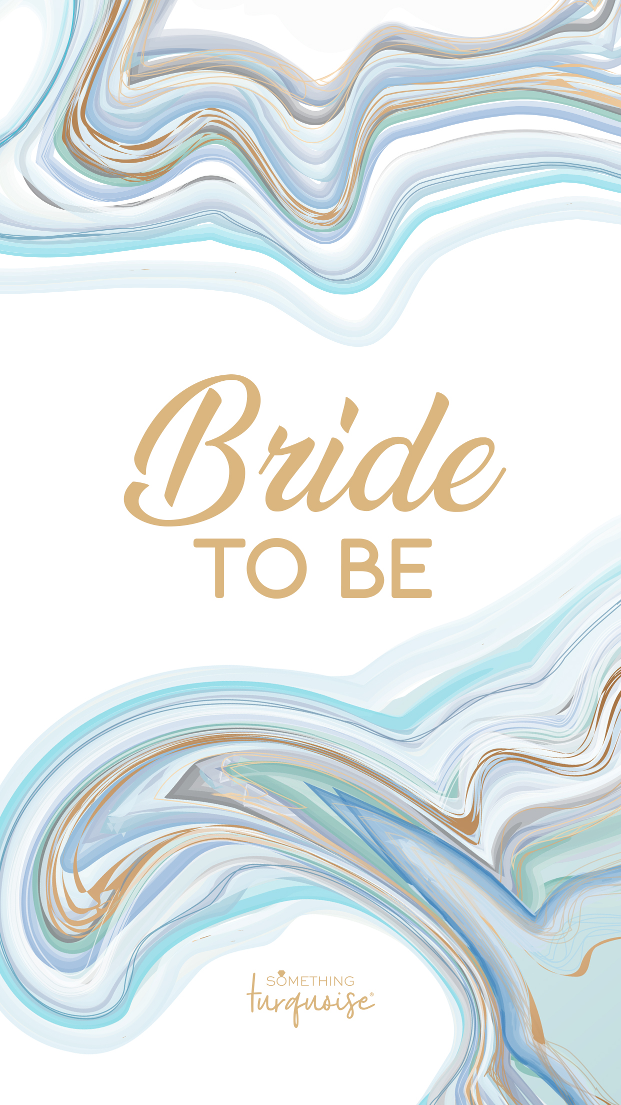Gorgeous turquoise and aqua agate Bride to Be smart phone wallpaper!