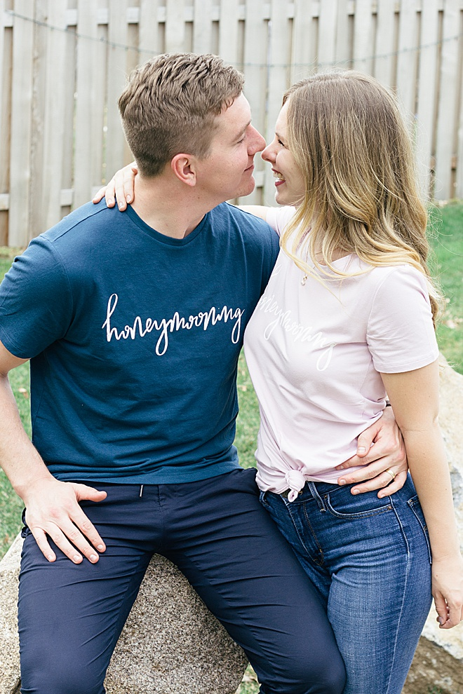 Hein & Dandy walks us through how to make the cutest honeymoon screen printed tees!