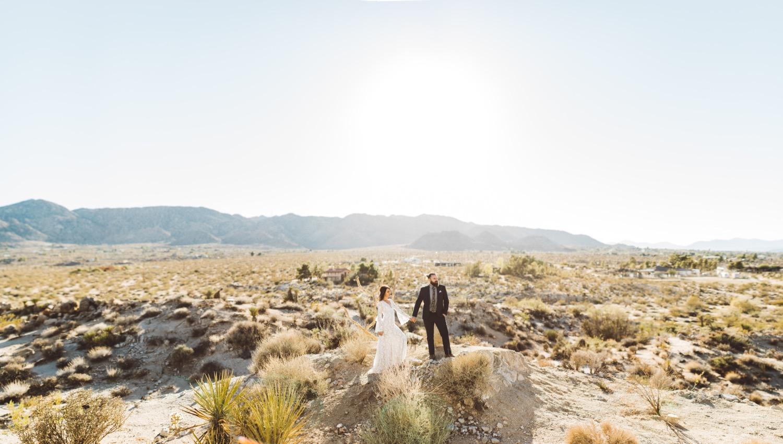 Gorgeous desert elopement shot by Steve Cowell Photography!
