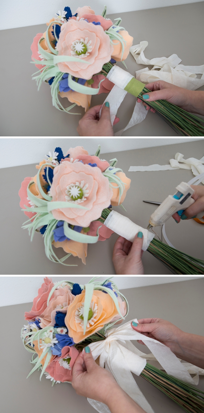 How to make the most gorgeous wedding bouquet out of felt!