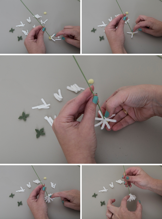 How adorable are these DIY felt mini daisies!?