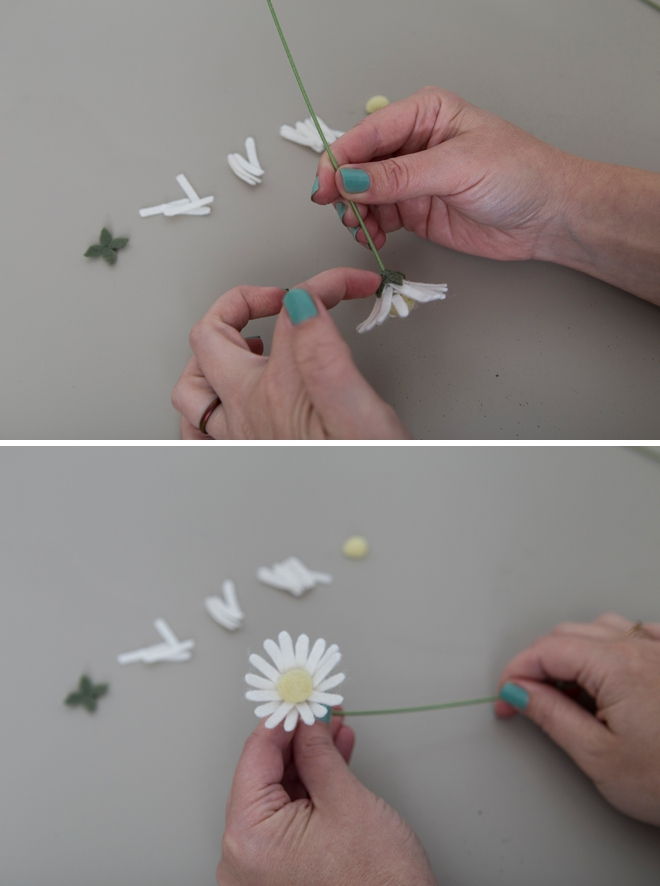 Learn how to make the most adorable mini daisies out of felt!