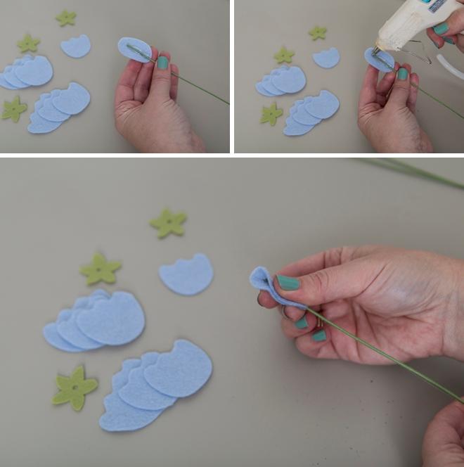 Learn how to make your own felt sweet pea flowers!